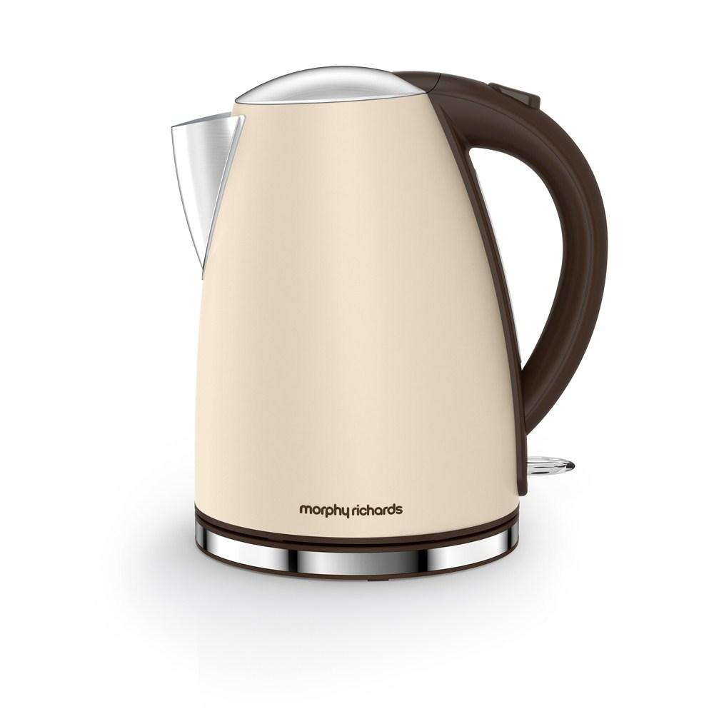 morphy richards 103003 sand cream accents cordless jug. Black Bedroom Furniture Sets. Home Design Ideas