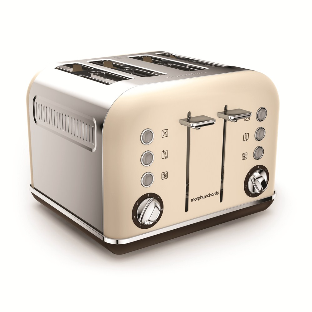 Morphy Richards Toaster: Morphy Richards 242101 Accents Sand Cream 4 Slice Toaster