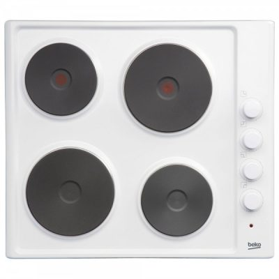 Beko HIZE64101W White 4 Ring Solid Plate Electric Hob